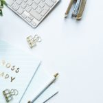apple magic keyboard beside brown stapler 2014697